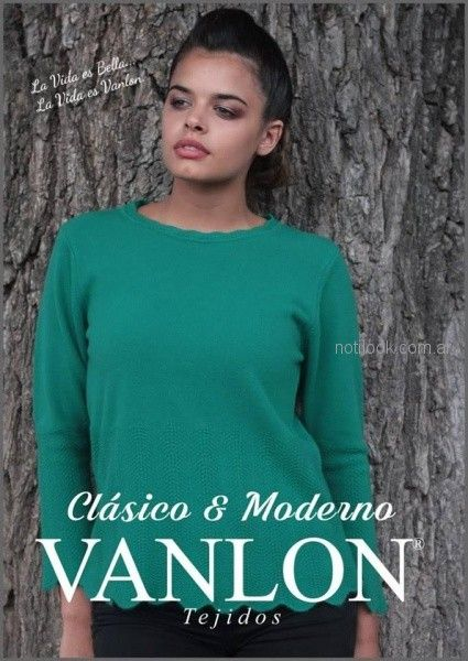 Sweater verde tejido invierno 2018 - Vanlon