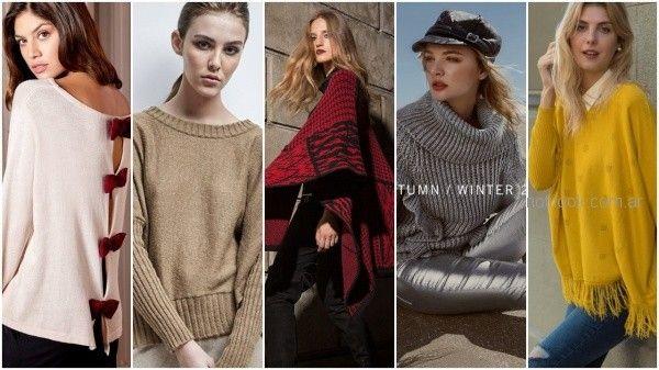 abrigos tejidos otoño invierno 2018 - moda