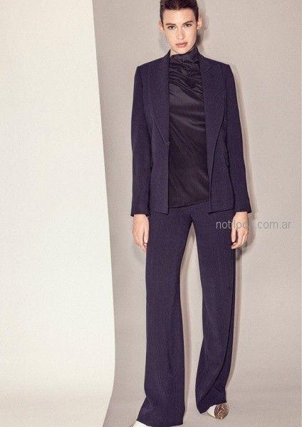 blaer y pantalon de vestir mujer - outfit oficina otoño invierno 2018 - Graciela Naum