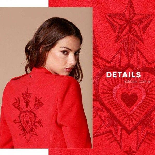 blazer bordados Zhoue - Blazer para mujer otoño invierno 2018