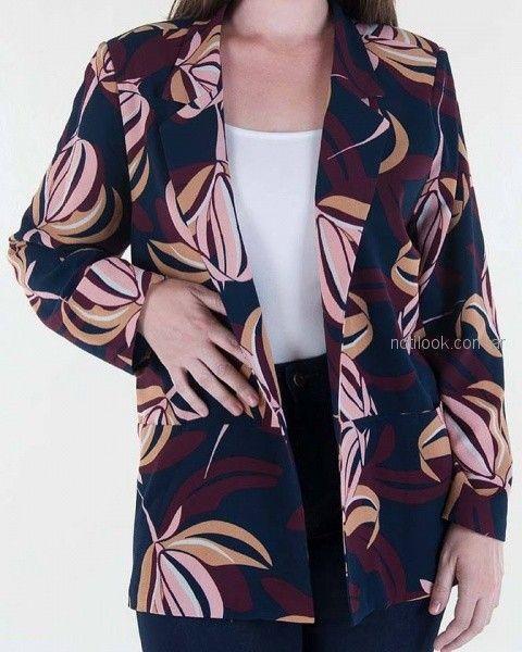 blazer estampado mujer invierno 2018 - Mamy blue