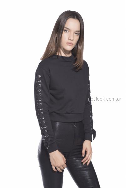 buzo de algodon look rockeros invierno 2018 - Ona Saez