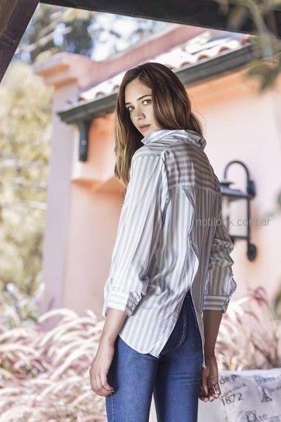 camisa a rayas mujer orix otoño invierno 2018