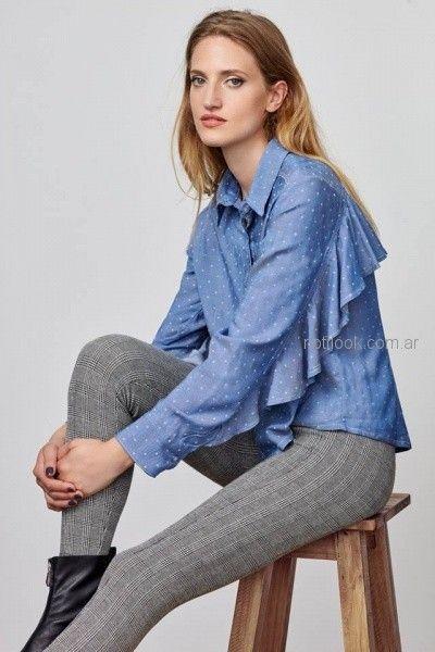 camisas con volado pantalon cuadrille elastizado Buryak invierno 2018