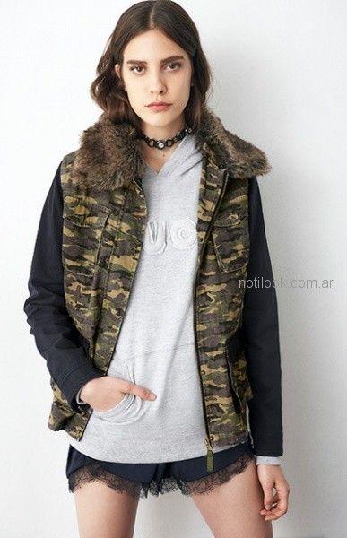 campera camufalda juvenil mujer delaostia invierno 2018