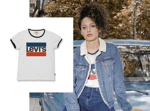 campera de jeans mujer forrada en corderito levis otoño invierno 2018