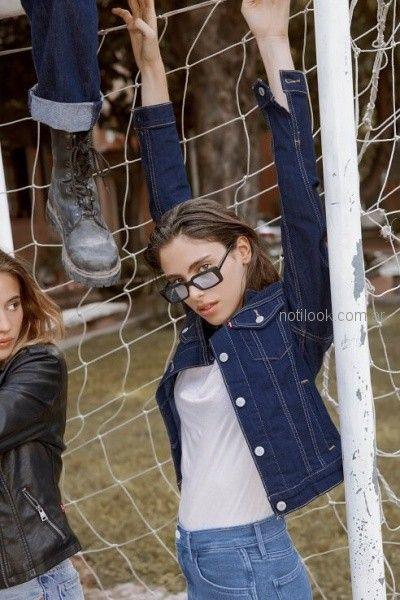 campera jeans mujer levis otoño invierno 2018