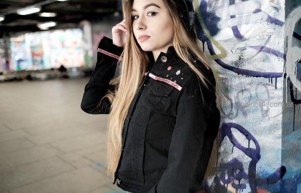 campera jeans mujer negra Diosa Luna Jeans otoño invierno 2018
