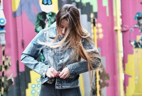 campera jeans mujer nevada Diosa Luna Jeans otoño invierno 2018