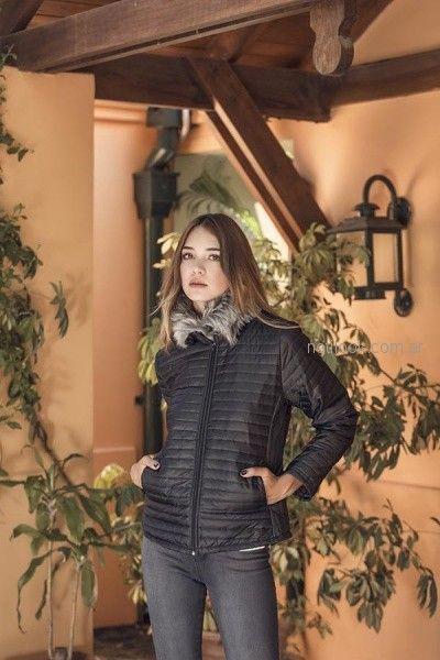 campera matelase con detalles en piel sintetica orix otoño invierno 2018