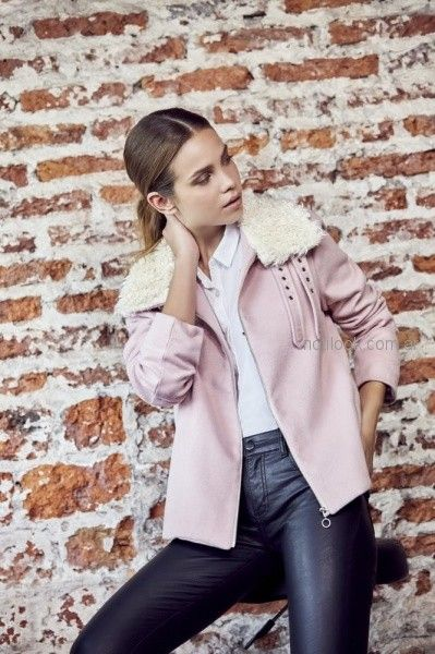campera rosa con calza engomada ossira invierno 2018
