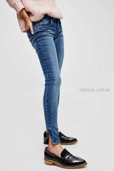 jeans chupin mujer invierno 2018 - Sweet