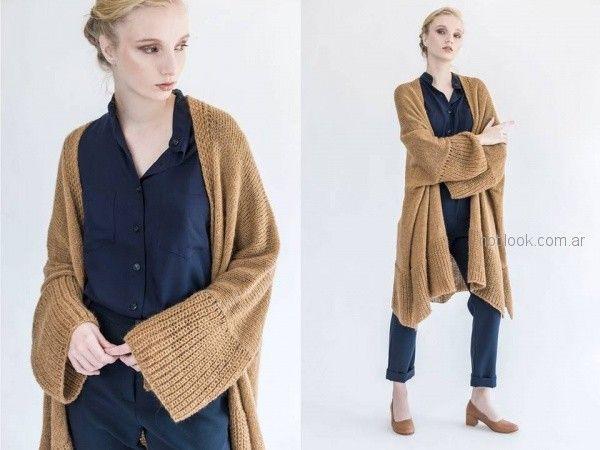 julia De Jong - sacos largos tejidos invierno 2018