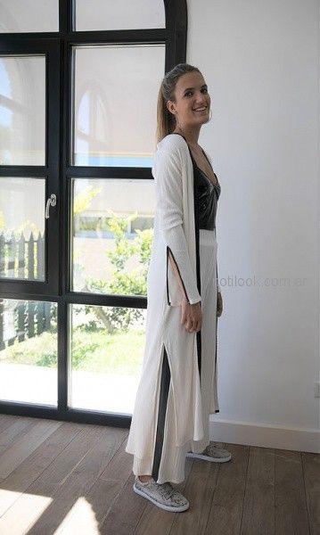 kimono largo mangas largas Pura pampa invierno 2018