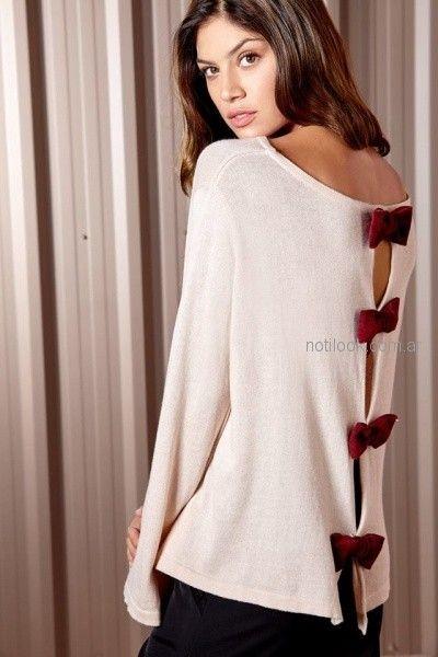 millie - sweater tejido con moños invierno 2018