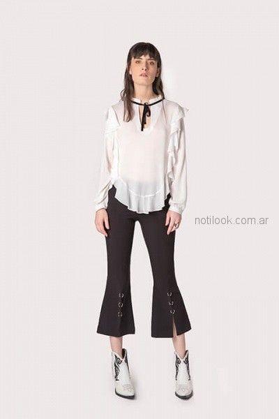 panta cort oxford con blusa blanca ag Store invierno 2018