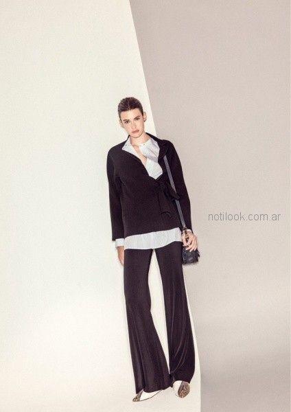 pantalon ancho - outfit oficina otoño invierno 2018 - Graciela Naum