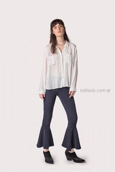 pantalon elastizado con volado en ruedo ag Store invierno 2018