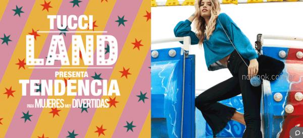 pantalon oxford con puntilla Tucci otoño invierno 2018