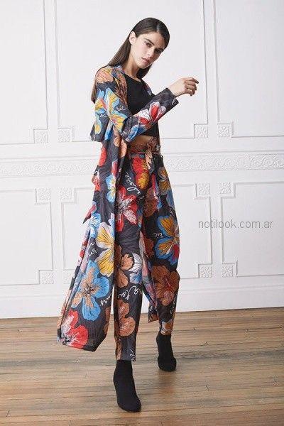 pantalon plisado y kimono mangas largas rie otoño invierno 2018
