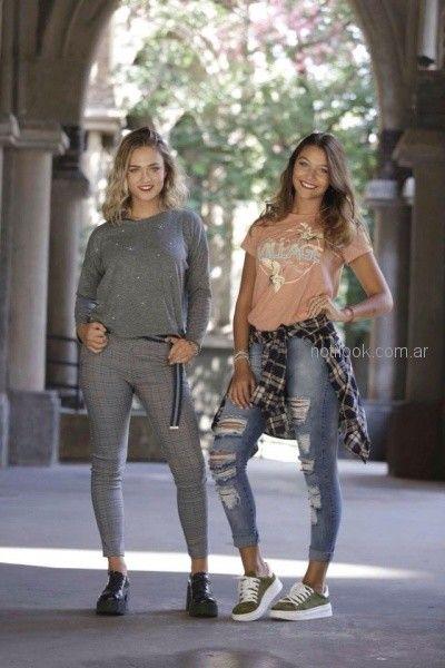pantalones chupin sweater y camisas juveniles mujer Doll fins otoño invierno 2018