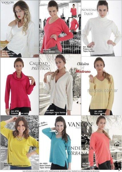poleras tejidas para mujer invierno 2018 - Vanlon
