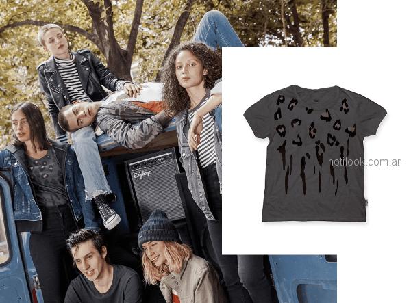 remeras mangas cotas con estampa jeans tiro alto mujer levis otoño invierno 2018