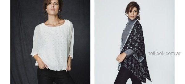 ruana y blusas para señoras Etam otoño invierno 2018