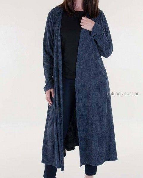 saco largo tejido mujer invierno 2018 - Mamy blue