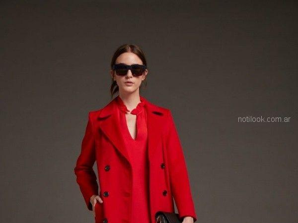 saco rojo de paño mujer Awada otoño invierno 2018
