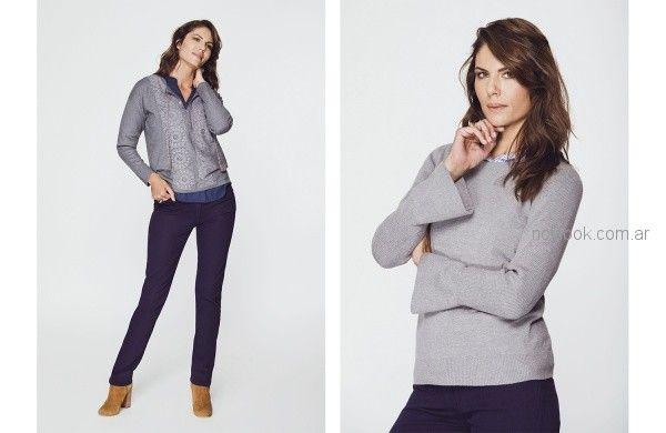 sweater hilo para señoras Etam otoño invierno 2018