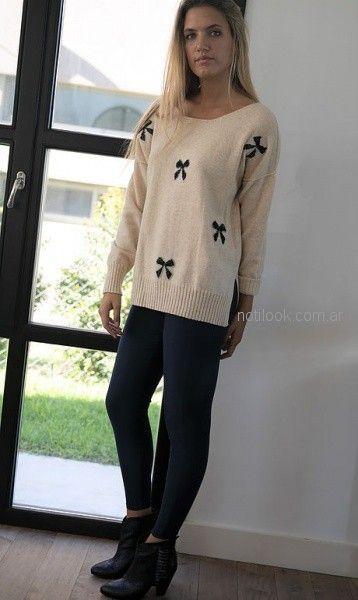 sweater lana mujer Pura pampa invierno 2018