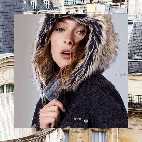 tapado de paño con capucha otoño invierno 2018 Vesna