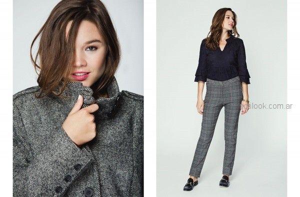 tapados para mujer pantalon cuadrille de vestir mujer ted Bodin otoño invierno 2018
