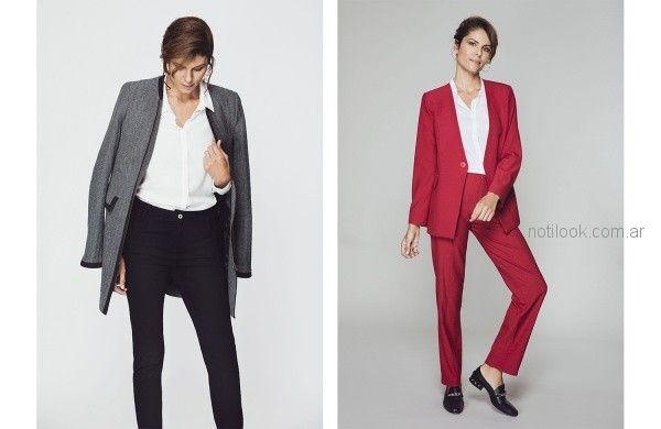 trajes para señoras Etam otoño invierno 2018