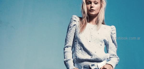 buzos de lana tejidos juveniles mujer melocoton invierno 2018