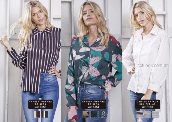 camisa para mujer Utzzia otoño invierno 2018