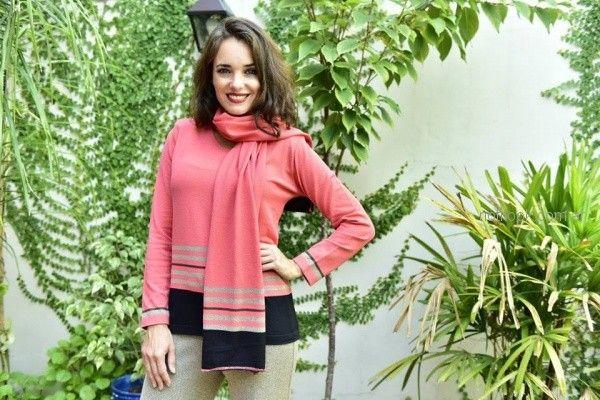 conjunto sweater mujer mas bufanda Di madani Sweater invierno 2018
