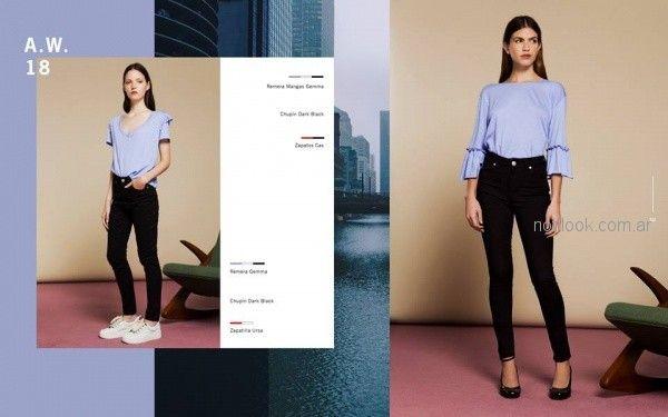 jeans chupin negro mujer Naima invierno 2018