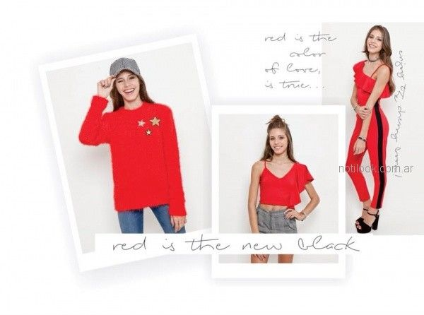look rojo teenager Combustion Love invierno 2018