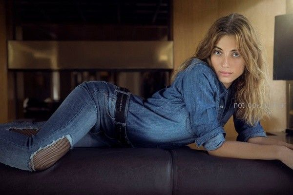 look total denim mujer Riffle jeans invierno 2018