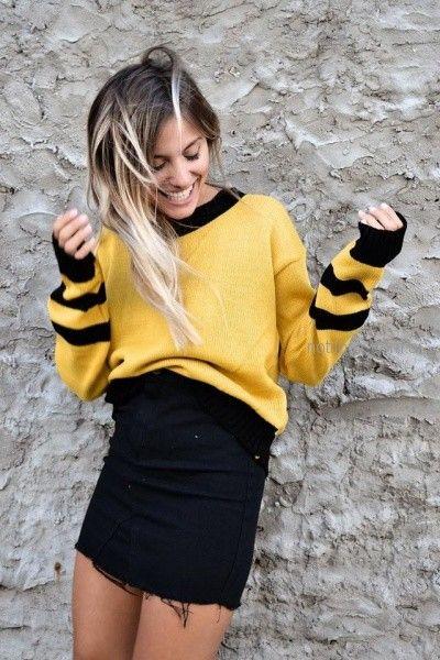 minifalda jeans desflecada Dorcastar invierno 2018