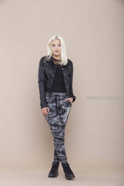 Pantalon Camuflado Mujer Look Rockero Mujer Tabatha Jeans Invierno 2018 Notilook Moda Argentina