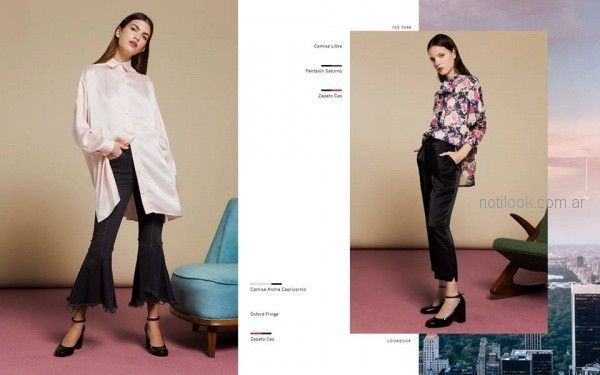 pantalon de seda mujer Naima invierno 2018