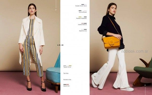 pantalones a rayas mujer Naima invierno 2018