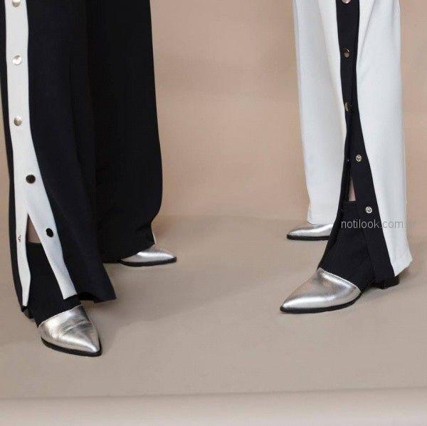 pantalones con botones laterales Marcela ¨Pagella otoño invierno 2018