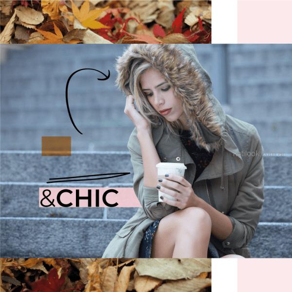 parka de gabardina con detalles de pelo sintetico Julien invierno 2018