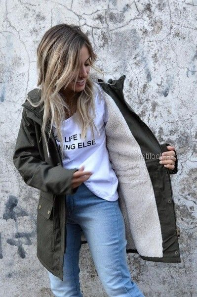 parka larga forrada con abrigo para mujer Dorcastar invierno 2018