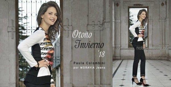 remeras estampadas para señoras Moravia jeans invierno 2018