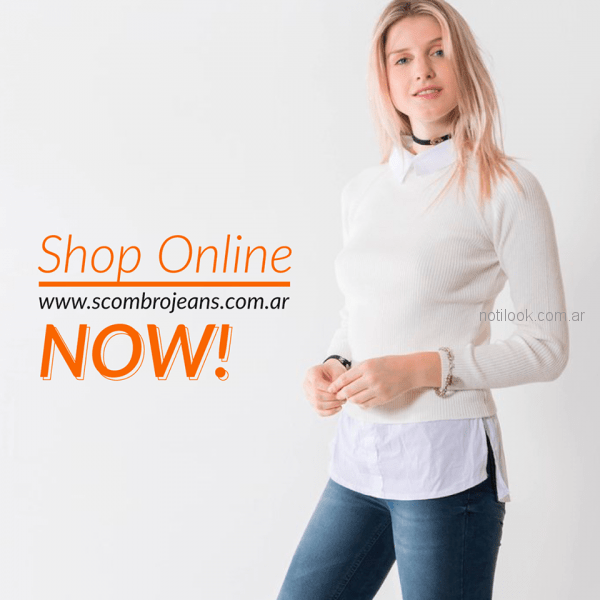 sweater basicos liso mujer Scombro jeans invierno 2018